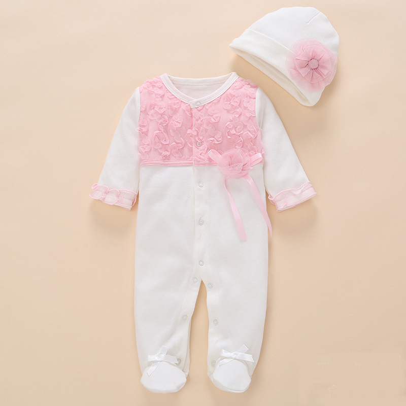 newborn baby girl clothes   romper   2018 summer set cotton flower jumpsuit Footwear   rompers   cute 0 3 6 months baby girl clothing