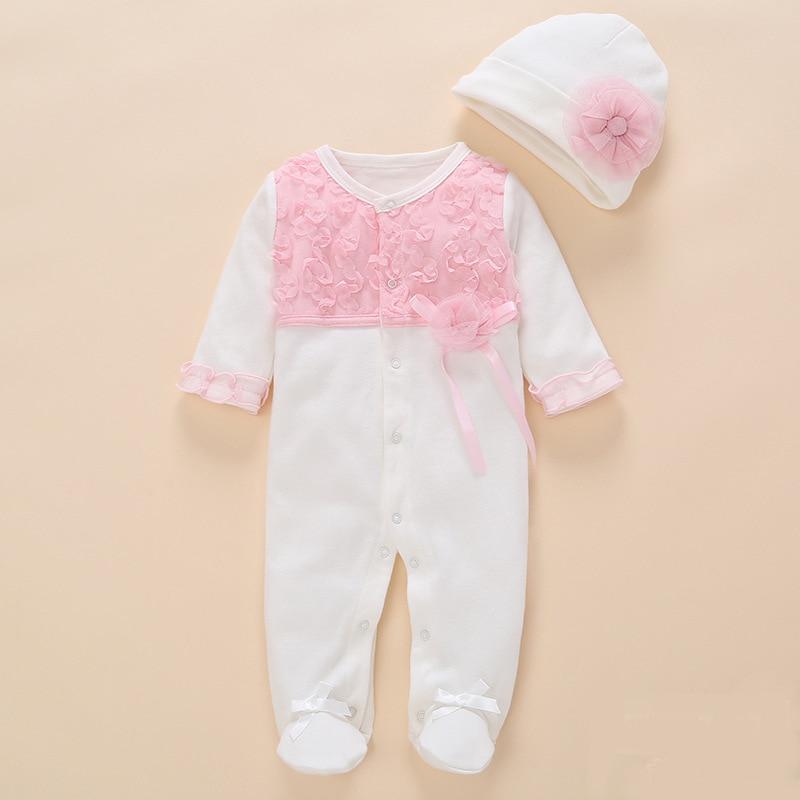 jaundzimušo bērnu meiteņu apģērbs romper 2018 vasaras komplekts kokvilnas ziedu kombinezons Apavu rompers gudrs 0 3 6 mēneši bērnu meitenes apģērbs