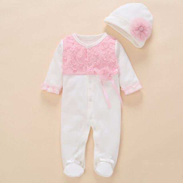 3884da532d8a newborn baby girl clothes romper 2018 summer set cotton flower ...