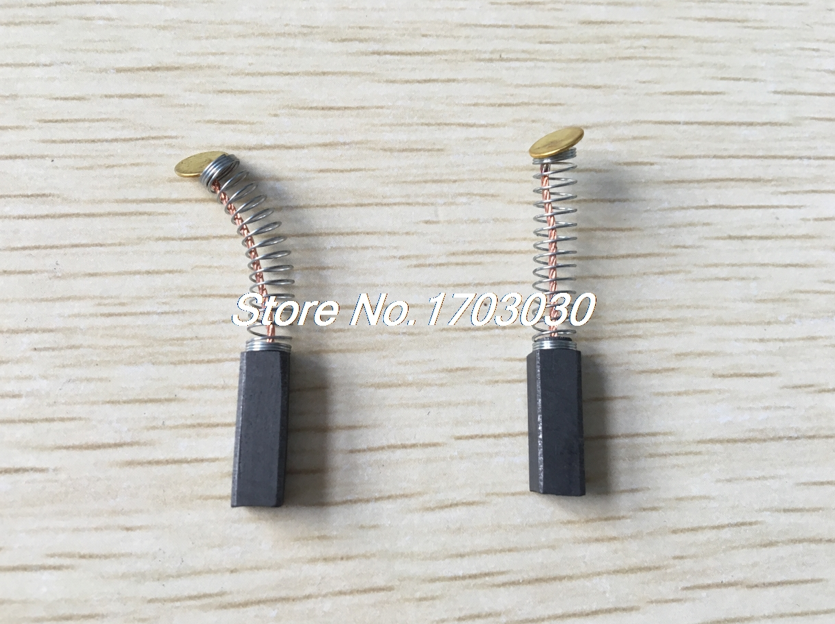 6 Pcs 5mm X 5mm X 15mm Motor Carbon Brushes For Power Tool