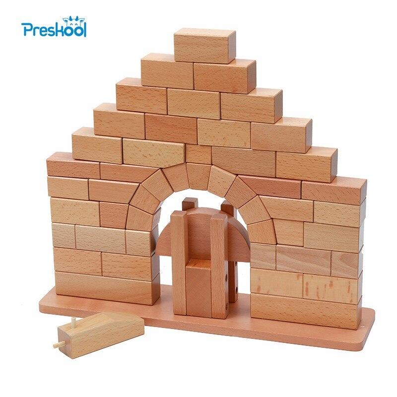 Brinquedo do bebê montessori ponte romana de madeira para educação infantil pré escolar crianças brinquedos juguetes