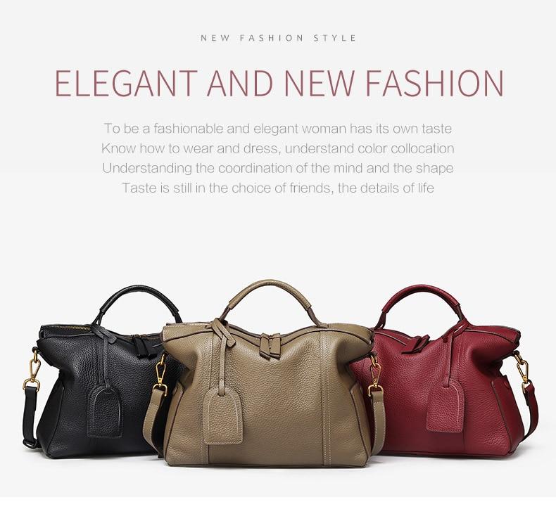 066a7e273383 Kamicy 2018 girl s bag new fashion style Female bag Cowhide handbag  shoulder bag Rivets bag 100% cowhide. US   48.20  piece. k4732 01 ...