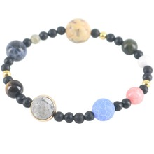 Universe Charm Bracelets Galaxy Planets In The Solar System Guardian Women Stars Natural Stones Beaded Bracelets & Bangles