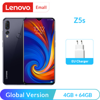 Global Version Lenovo Z5s Snapdragon 710 Octa Core 4GB 64GB Mobile Phone Face ID 6.3inch Android P Triple Rear Camera Smartphone Lenovo Phones