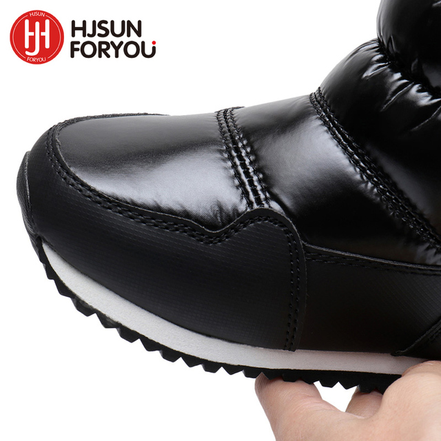 2019 New Children Snow Boots Rabbit Warm Winter Boots Fashion Plush Baby Shoes Water-Proof Sneakers Girls Boys Martin Boots