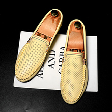 цены Hot Sale  Breathable Punching Casual Peas Shoes Men Loafers Moccasins Slip on Men's Flats Male Driving Shoe zapatos de hombre