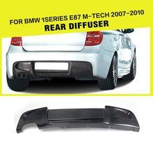 Задний бампер диффузор для губ спойлер для BMW 1 серии E87 M Tech M спортивный бампер 2007-2011 углеродного волокна