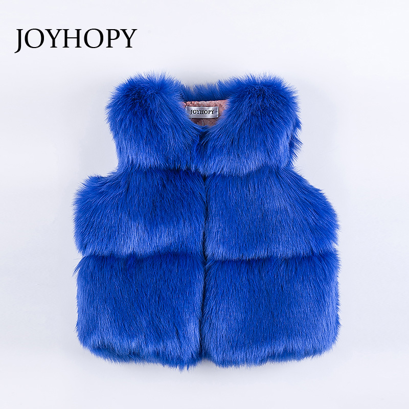 JOYHOPY 2017 font b Baby b font Girl Vest Tops Autumn Winter Coat Elegant Girls Vests
