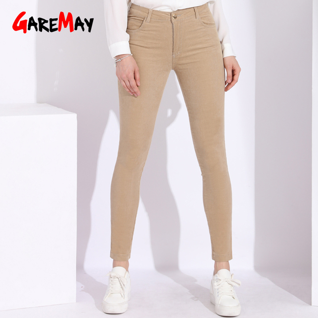 6e24057e High Waisted Corduroy Pants Womens 6xl Stretch Women Trousers Cotton Women's  Pants Plus Size Women's Corduroy Trousers Female