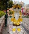 Новый Роскошный Плюшевые Кот костюм талисмана необычные партии dress костюм карнавал фурсьют бизнес спорт талисман