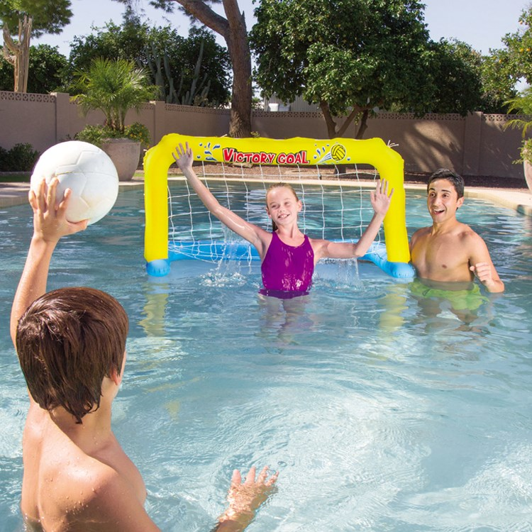 Children inflatable soccer goal volleyball net basketball stand water pool ball pitching board PVC water entertainment toys