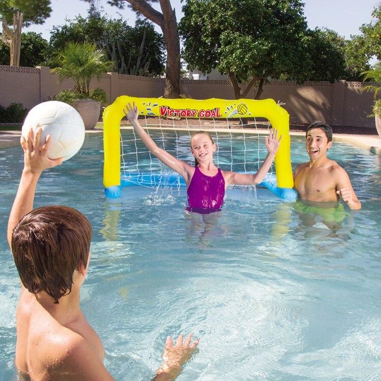 Enfants gonflable but de soccer volley-ball net de basket-ball stand piscine d'eau balle tangage conseil PVC d'eau divertissement jouets