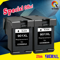 2PK Ink Cartridge 901xl For HP 901 XL HP901 For Officejet 4500 J4500 J4540 J4550 J4580