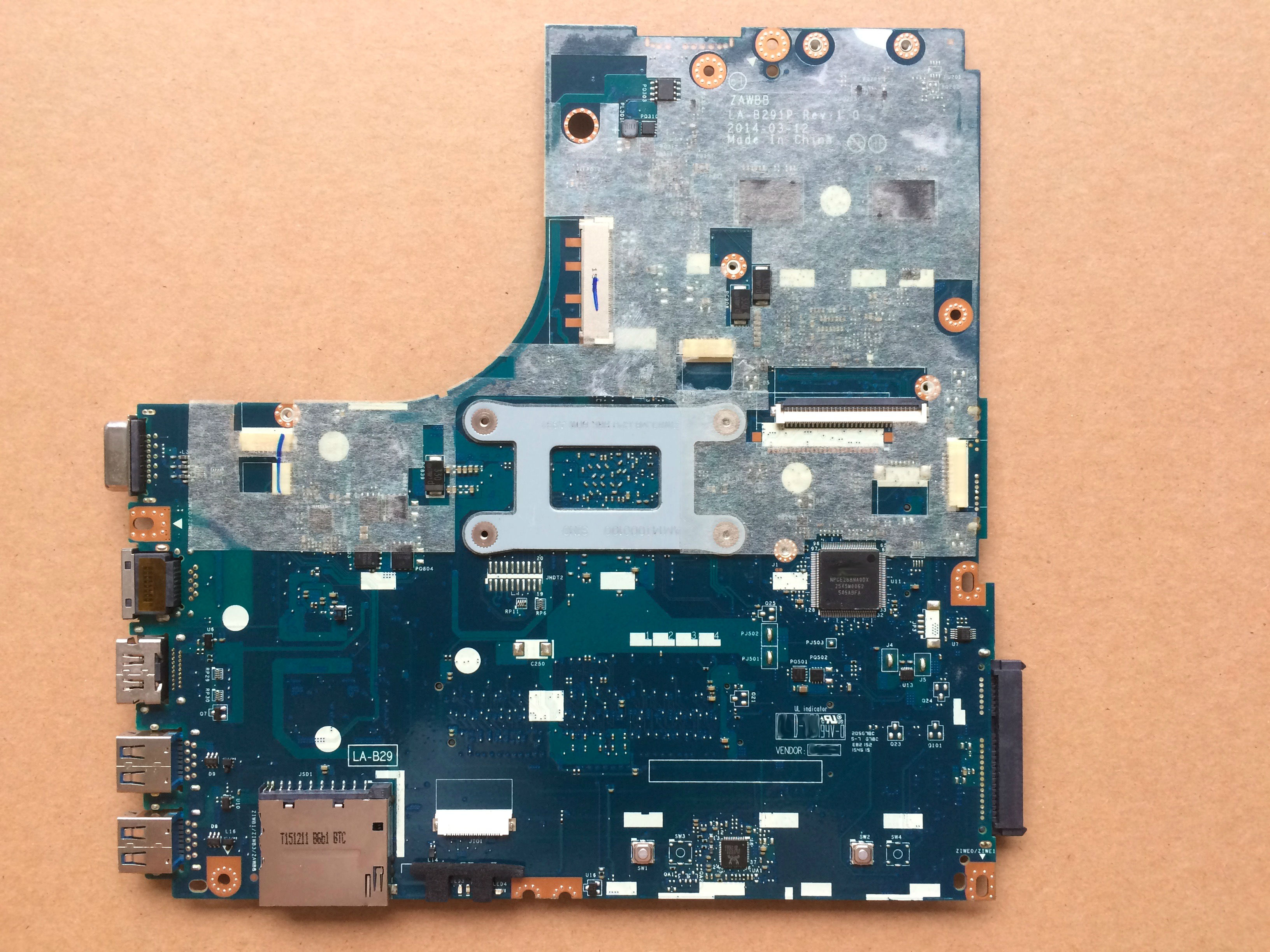 Image 2 - Free shipping A8 6410 CPU ZAWBB LA B291P B50 45 mainboard For Lenovo B50 45 laptop motherboard-in Motherboards from Computer & Office
