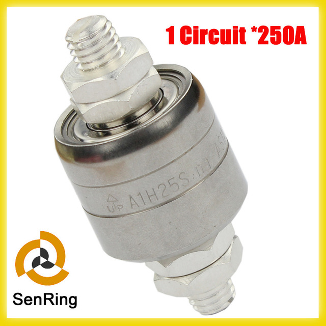 250A 1 circuit mercury slip ring with oxidized aluminum alloy or stainless steel A1H25S
