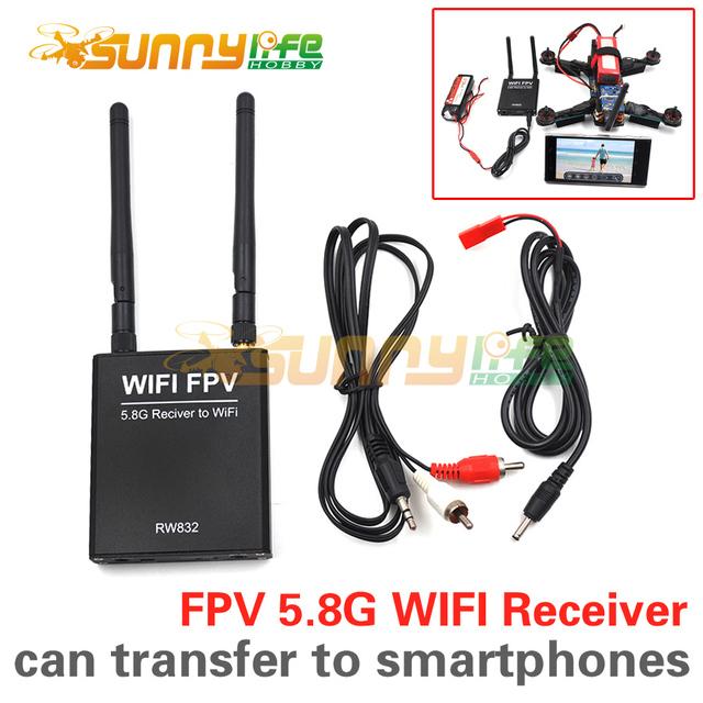 FPV 5.8G 32CH RW832 WIFI Módulo Receptor 5.8G/Transferência AV a Transmissão WI-FI ou para IOS/Android Smartphone Tablet