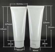 100ml white Empty soft tube with flip cap wash butter handcream tube Storage Travel Cosmetic Hand Cream Lotion Containers Bottle