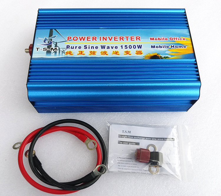 1500W Pure Sine Wave Power Inverter DC-AC 1500 Watt 3000 Watt Peak