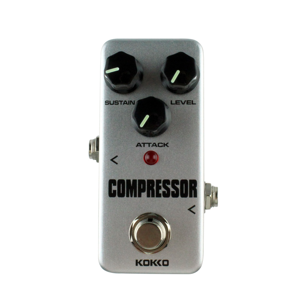 Analog Compressor Guitar Effects Mini Effect Pedal Sustain Attack Level Control Ture bypass Kokko