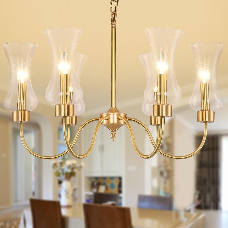 Living Room Chandelier Lighting Luxury Copper Lamp Modern lampadari ceilingLiving Room Chandelier Lighting Luxury Copper Lamp Modern lampadari ceiling