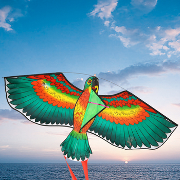 Mayitr 1Pc 1.1M Parrot Kite Family Outings Outdoor Fun Sports Kids Kites Flying Toys For Children Kids High Quality