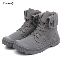 Autumn And Winter 2018 New Non Slip Breathable Middle Canvas Shoes Paladin Men S Outdoor Casual