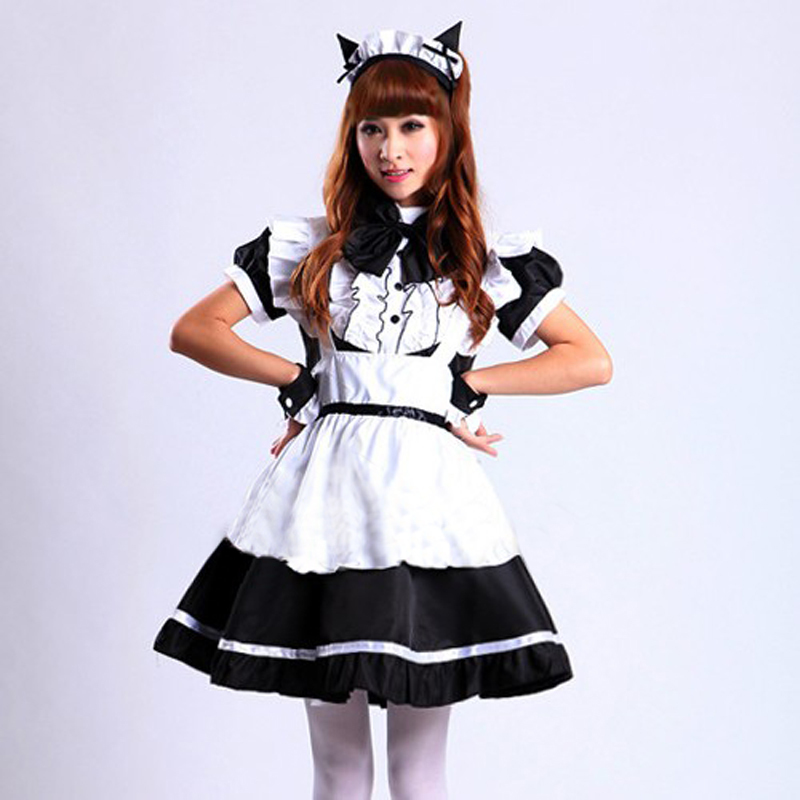 Sexy French Sissy Maid Uniform Costume pink black Sweet Gothic Lolita Dress Anime Cosplay Halloween Costumes For Women Plus Size
