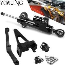 Motorcycle CNC Damper Steering StabilizerLinear Reversed Safety Control+Bracket For Yamaha MT09 MT-09 FZ-09 FZ09 MT 09 2013-2017