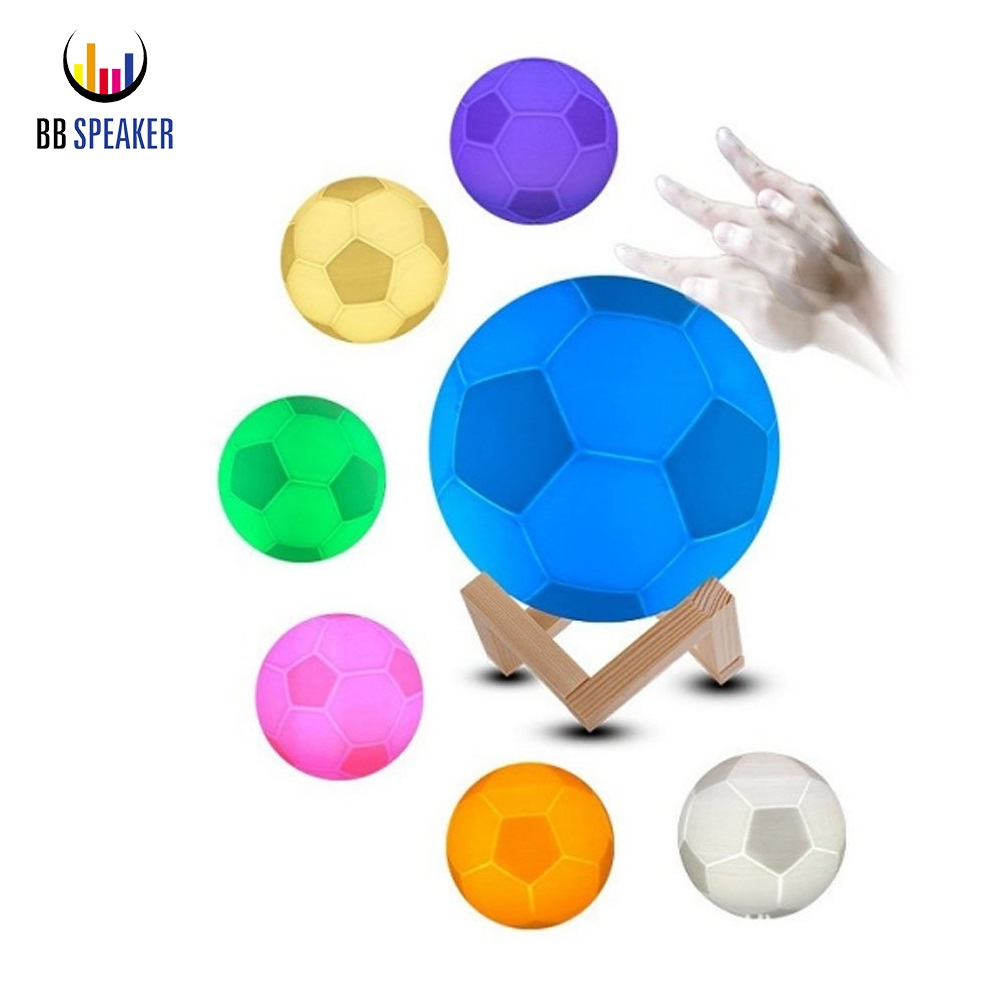 LED Night Light 7Colors 3D Football Light USB Rechargeable Moon lamp 3D Soccer Lamp Change Pat Switch Soccer World Cup Souvenir