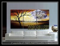 Haute Qualité rentable Artisanat Moderne D'art Abstrait Peinture À L'huile arbre de vie Floral Paysages Colline