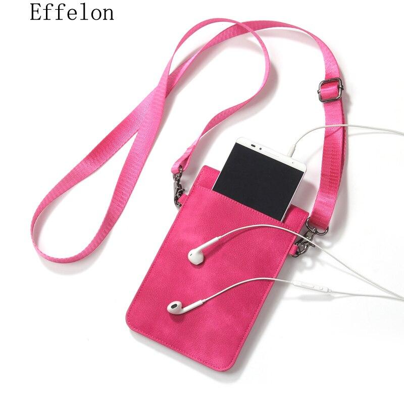 bilder für Effelon Universal Pu-leder Handytasche Schultertasche Tasche Wallet Pouch Case Umhängeband Für Samsung S8 Plus S8 für iPhone 7 6 s plus