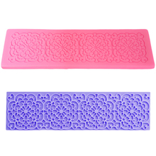 Food Grade Silicone Flower Silicone Mold Fondant Cake Decorating Tools Lace Fondant Mold Silicone Chocolate Mould Baking Tools цены