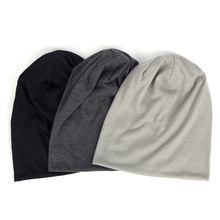 Solid Color Slouchy Beanie For Women Fashion Man Cotton Caps Turban Unisex