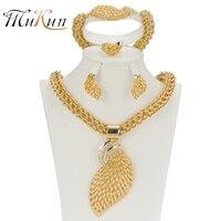 SHILU Women Jewelry Sets Gold Plated Fashion Statement Necklace Dubai Bridal Fashion Party Wedding African Beads