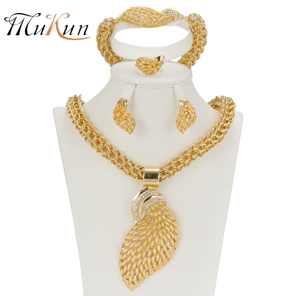 MUKUN Women Jewelry Sets Gold color Fashion Statement ...