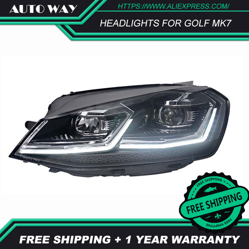 Image 3 - Car Styling Head Lamp for VW Golf7 Headlights Golf 7 MK7 MK7.5 2013 2017 LED Headlight H7 D2H Hid Angel Eye Bi Xenon Beam-in Car Light Assembly from Automobiles & Motorcycles