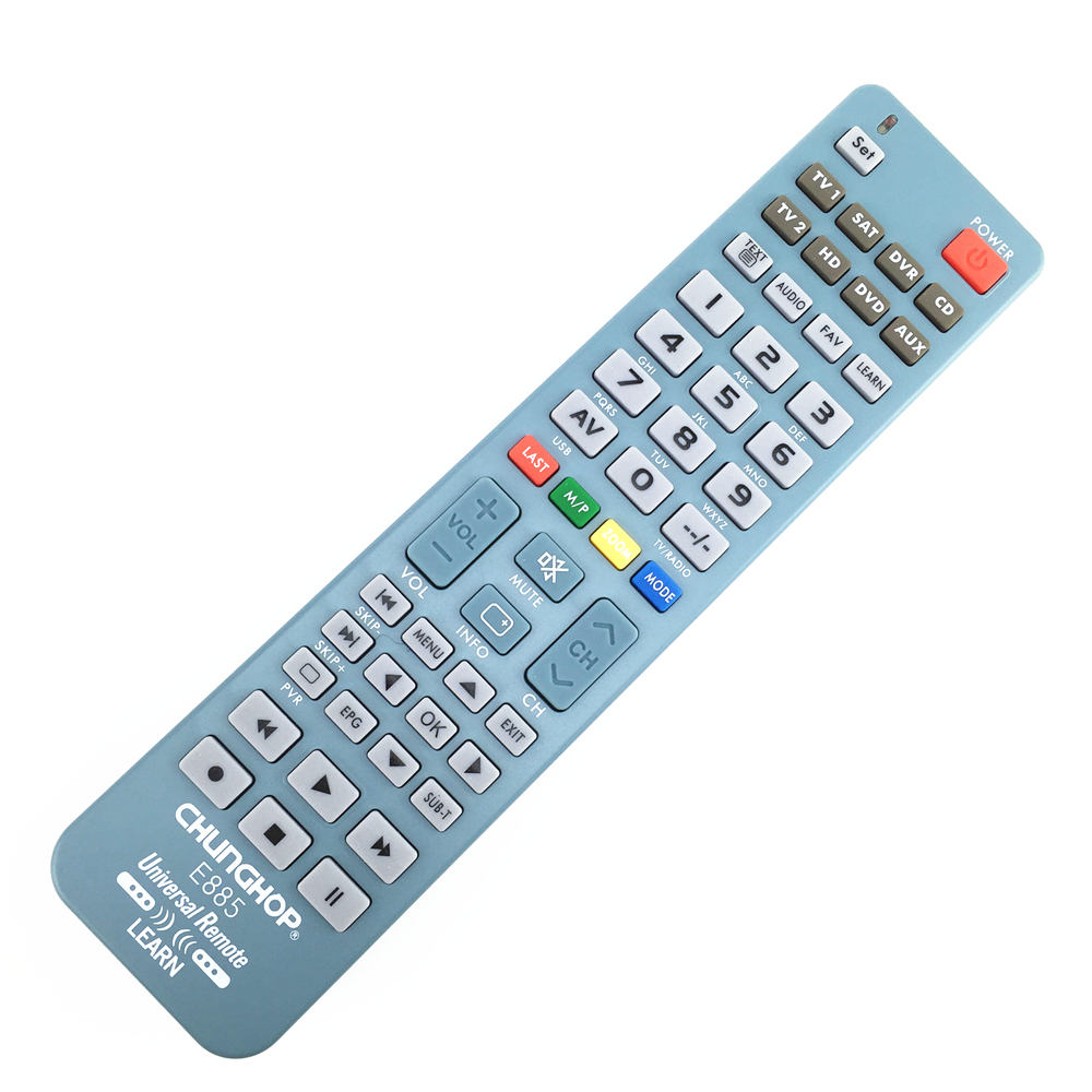 1PCS  New 8 in 1 Universal Remote Control Controller For TV CBL SAT VCR DVD AMP chunghop e885 universal remote control for tv vcr sat cable vcd dvd ld cd amp 2 aa