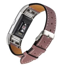 Leather Replacement Band Stainless Frame for Charge 2