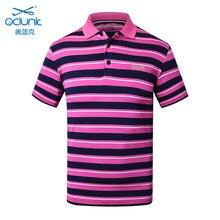 Brand OCLUNLC men T shirt summer golf training garment sports short sleeve polo shirt outdoor tops golf striped shirts