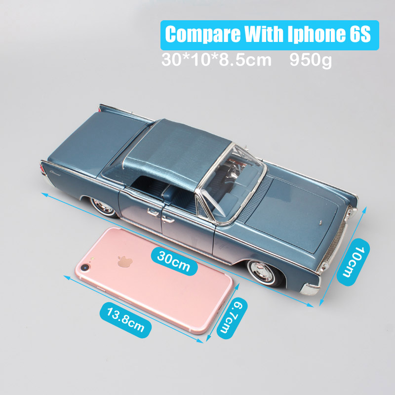 Classics large scales car 1 18 brands 1961 LINCOLN CONTINENTAL Metal models cars Diecasts Toy Vehicles for children collection in Diecasts Toy Vehicles from Toys Hobbies