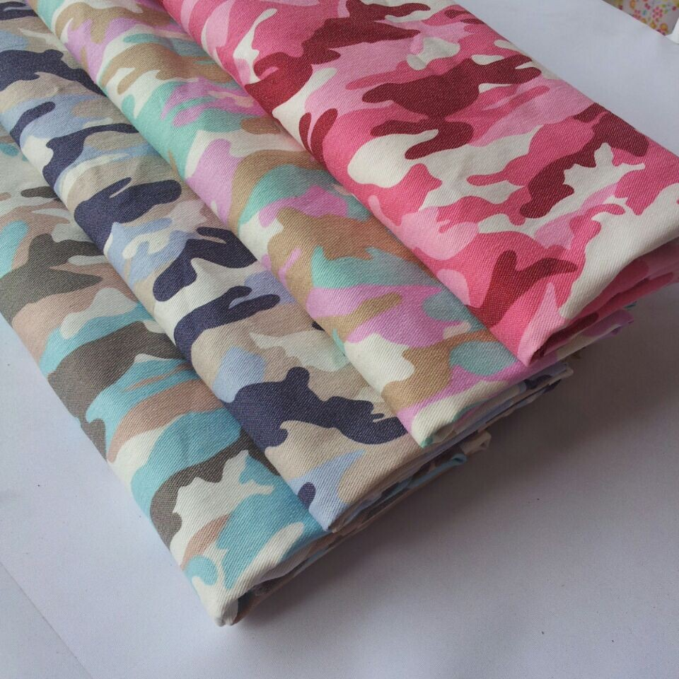 High quality stretch denim cloth material camouflage for Cheap cloth material
