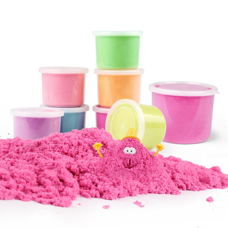 500/1000g Available In A Variety Of Colors  Dynamic Sand Magic Sand Kids Toys For Children Polymer Clay Montessori Toys