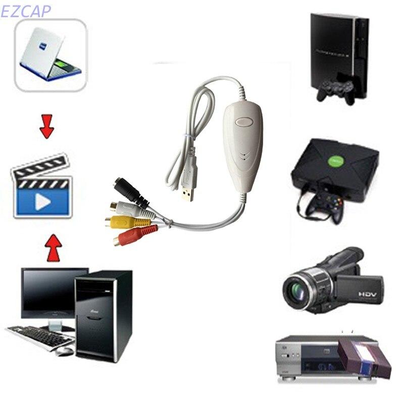 Carte de capture audio vidéo analogique, convertisseur USB VHS vers DVD avec fonction d'instantané pour Windows MAC livraison gratuite - 3