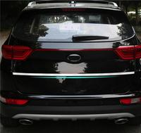 FOR 2016 2017 KIA SPORTAGE High Quality Stainless Steel Rear Trunk Lid Cover Trim