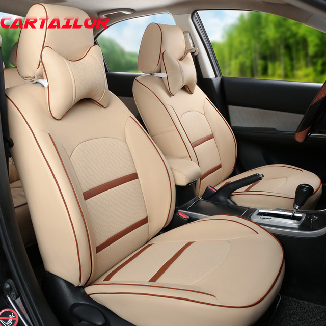CARTAILOR PU Leather Cover Car Seats For Porsche Macan Seat Covers