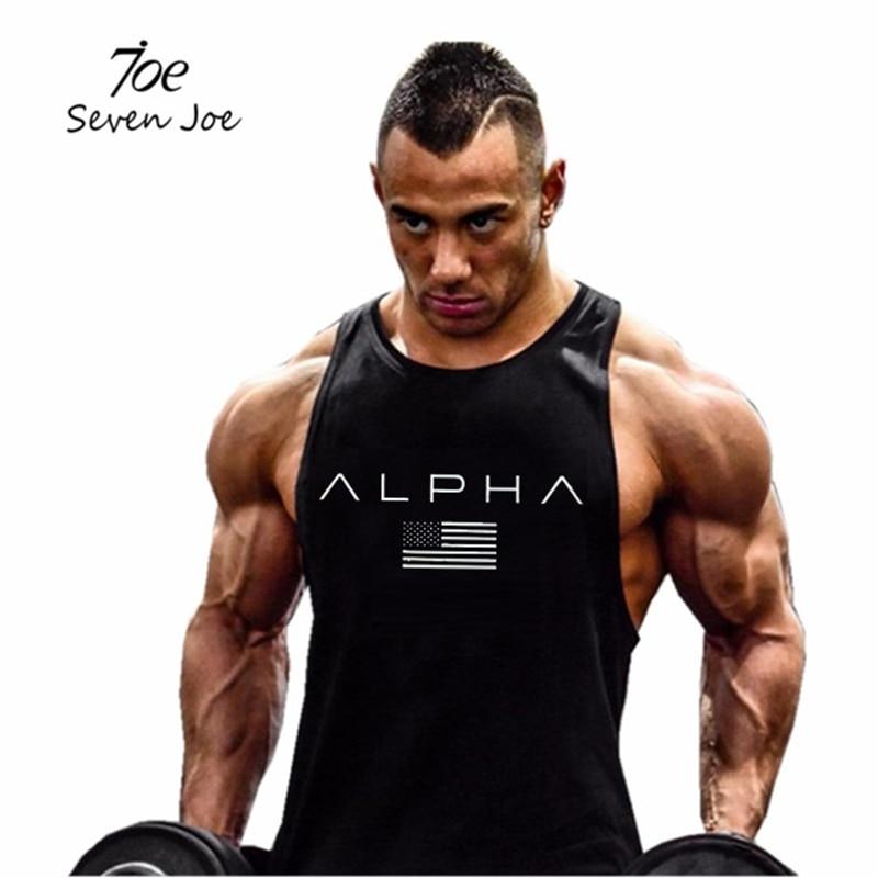 Seven Joe New Fashion Cotton Sleeveless Shirts Tank Top Men Fitness Shirt Mens Singlet Bodybuilding Workout Gym Vest Fitness Men