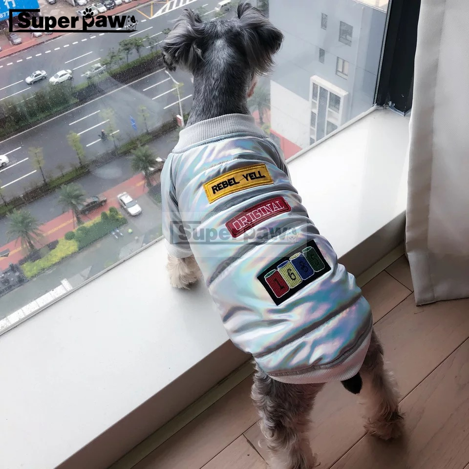 New Dog Clothes Pet Puppy Soft Cotton Waistcoat Coat Bulldog Schnauzer Chihuahua Jacket for Dogs In Winter Keeping Warm AQC26 in Dog Down Parkas from Home Garden