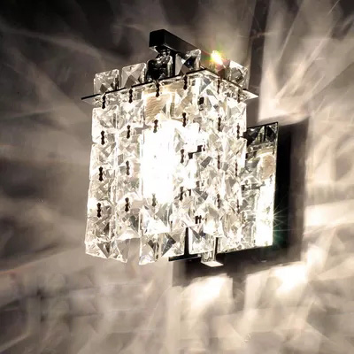 Simple LED Wall Lamp Modern Home Lighting Bedroom Berth Crystal Wall Light Corridor Crystal Wall Sconce Contains LED Bulb