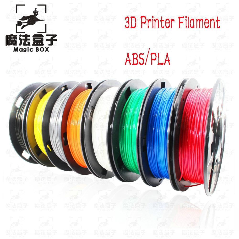 DIY 3d impresora filamento más colores opcional PLA/ABS 1,75mm MakerBot RepRap caucho plástico consumibles Material 0,30/ KG Hotsale