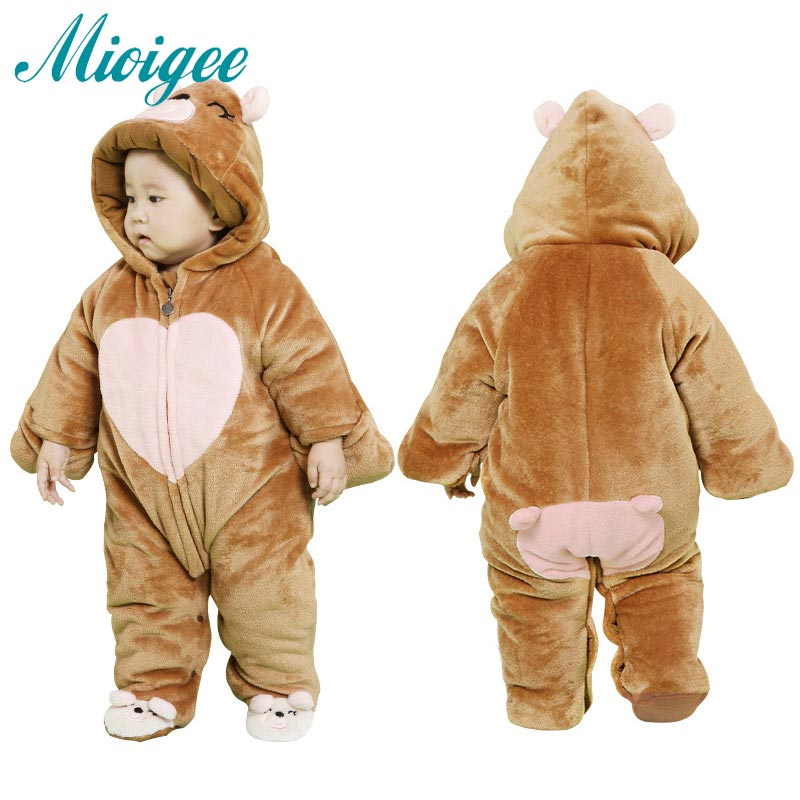 LOVE print winter Baby Clothes Flannel Baby Boy Clothes Cartoon Animal Jumpsuit Baby Girl Rompers Baby Clothing coat baby clothes winter keep warm flannel baby rompers baby boy girl coat next romper newborn kids clothes jumpsuit set